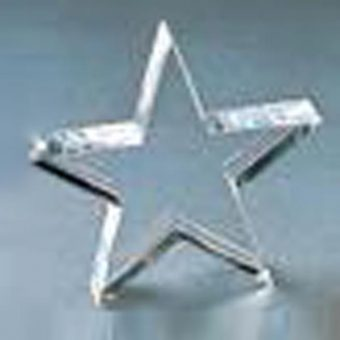 Glass star trophy.
