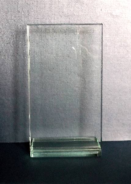 Square glass with backwards facing base
