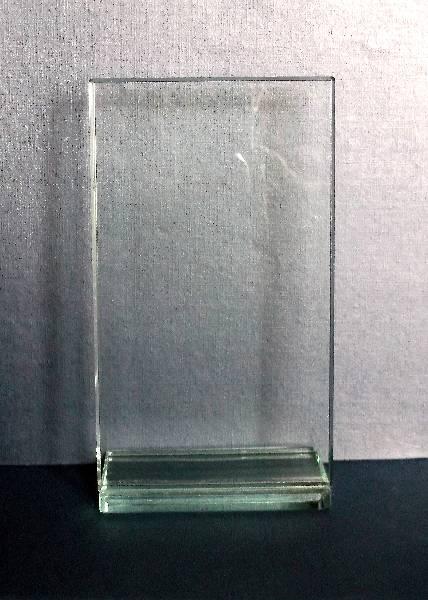 Square glass with backwards facing base